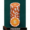 Lazar Cash Game Suits - 0,25 Euro , Orange, 11,5 g