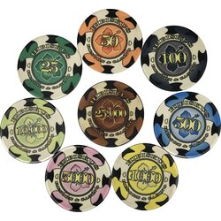 Sample Set Hibiskus Keramik Poker Chips - Aligned
