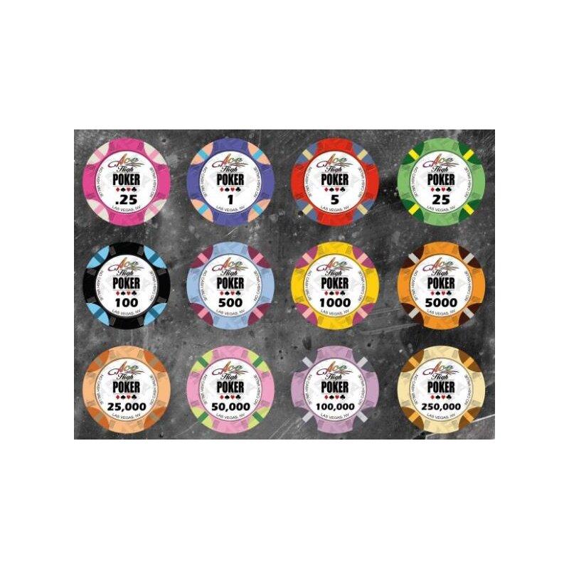 500 Individuelle Poker Chips Aus Keramik Aligned