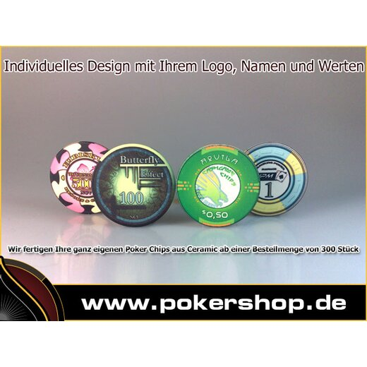 500 Individuelle Poker Chips Aus Keramik Aligned 34990