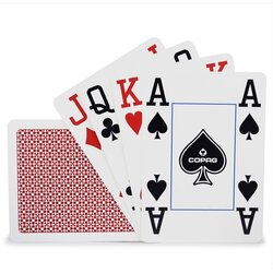 Plastic Playing Cards - COPAG Jumbo Red - 4 Corner