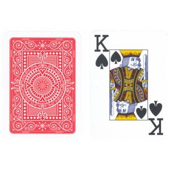 Plastic Playing Cards - Modiano Plastico Red