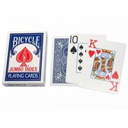 Playing Cards - Bicycle Jumbo Index Blue
