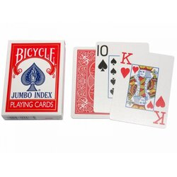 Spielkarten - Bicycle Jumbo Index Red
