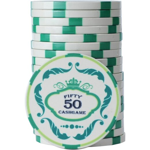Pokerset Ceramics - Crown Cashgame NL500
