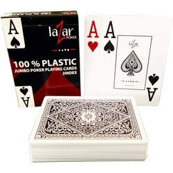 Plastic Playing Cards - LAZAR 1070 Premium - Black