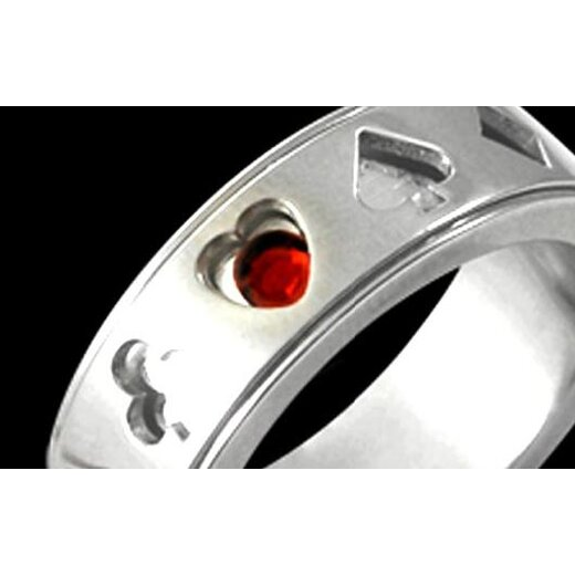 Ring - Suits silber, spinning 62 mm