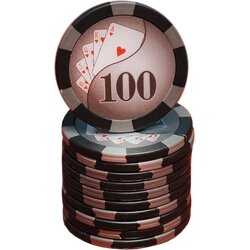 Poker Chip - Royal Flush 100
