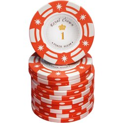 Poker Chip - Royal Crown Cash -  1