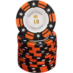 Poker Chip - Royal Crown Cash -  10