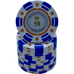 Poker Chip - Royal Crown Cash -  50