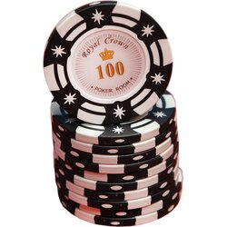 Poker Chip - Royal Crown Cash -  100
