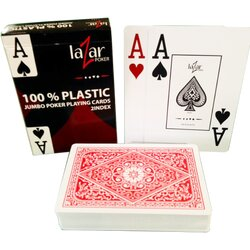 Plastic Playing Cards - LAZAR 1070 Premium - Red