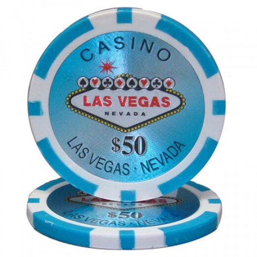 Poker Chip Set - Laser Las Vegas 500