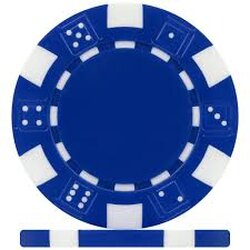 Pokerchip - Dice blau