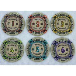 Board Game Chips - 6 Positions Chips 43mm