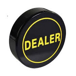 Dealer Button - Black Dealer