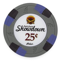 Clay Pokerchip - Showdown 0,25$