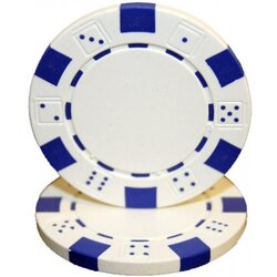 Poker Chip - Dice White
