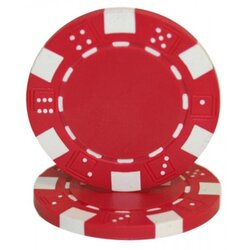 Poker Chip - Dice Red