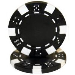 Poker Chip - Dice Black