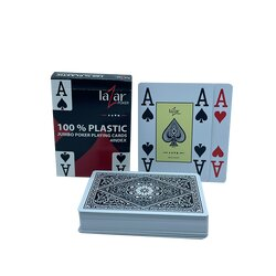 Plastic Playing Cards - LAZAR 2210 - Black