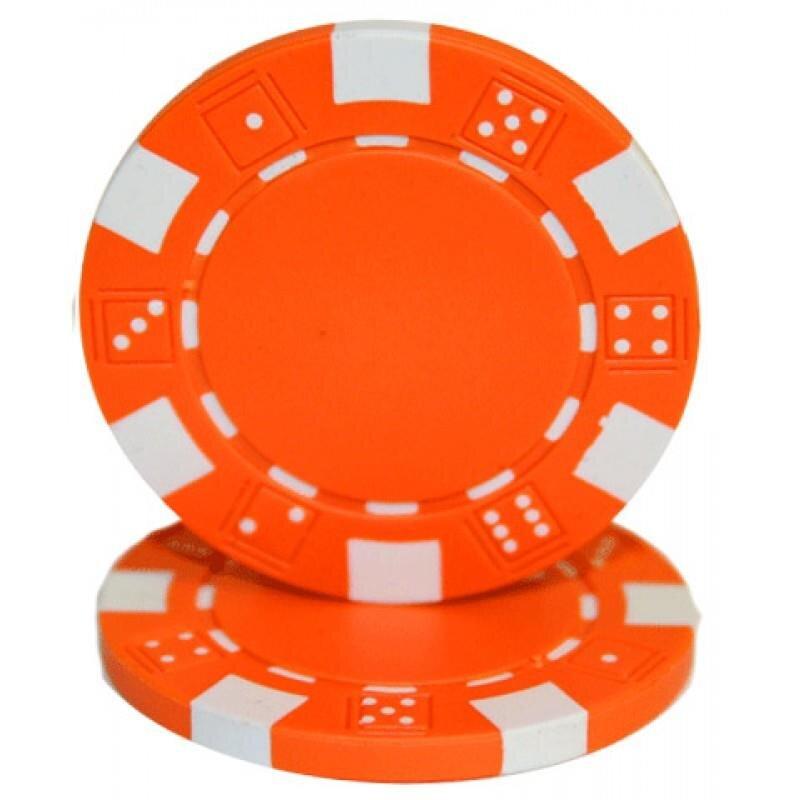Pokerchip Dice Orange