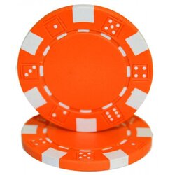 Pokerchip - Dice orange