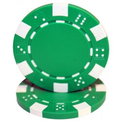 Poker Chip- Dice Green