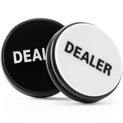Dealer Button - Puck schwarz/weiß