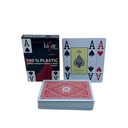 Plastic Playing Cards - LAZAR 2210 - Red